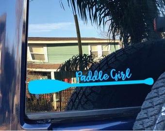Custom Decal | Paddle Girl | Kayak Paddle Decal | Canoe Paddle Decal