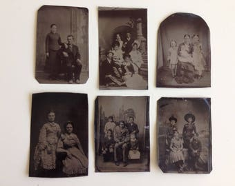 YOU CHOOSE 1 - Victorian 1800's Tintype Family Portraits