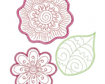 Whimsical Bloom - In The Hoop - Machine Embroidery Design