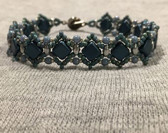 Blue and Silver Sassy Silkies Bracelet
