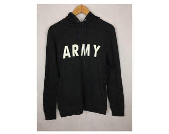 ARMY Apply Made By Spinns Long Sleeve Hoodies Medium Size sith Big Spell Out Logo