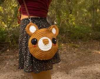 Crochet Bear Bag