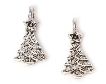 """Christmas tree"" pendant silver"
