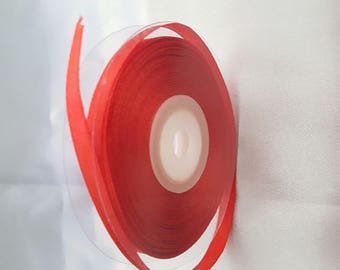 "Satin ribbon ""red / Burgundy"""