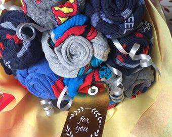 Superhero sock Bouquet