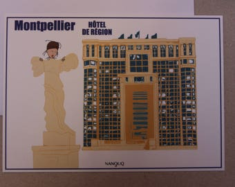 Postcard - Nanouq - MONTPELLIER - discover monuments in Montpellier with Nanouq - the region