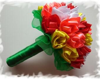 Vivid Tulip Bouquet