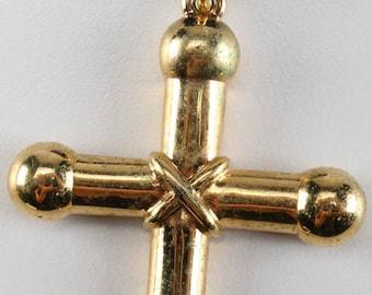 Napier Crucifix on Black Velvet Cord