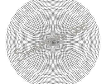 Spirographic -  Printable Digital Mandala Coloring Book Page Drawing Instant Download | Bullet Journal, BuJo, Stress-Free