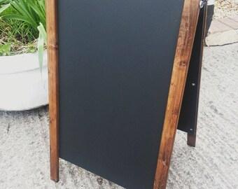 Dark Pine Wooden A Board - Chalkboard - Blackboard - Pavement Sign - 70 x 40cm