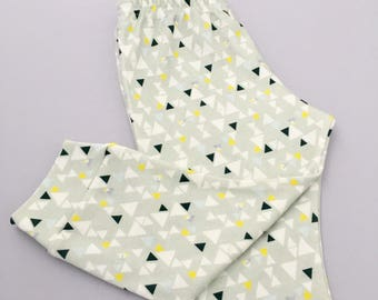 Triangle geo - organic cotton leggings