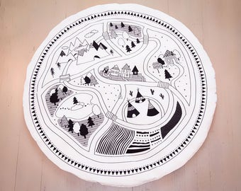 Tipi Tent, round, play mat, nursery décor, crawling mat, baby shower gift, tummy time ,activity mat