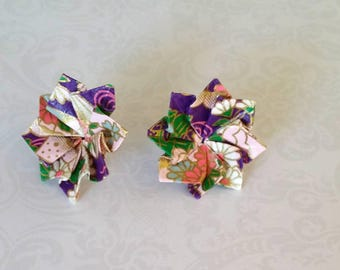 Origami Earrings-Origami Post Earings-Origami Jewellery-Anniversary Gift-Christmas Gift