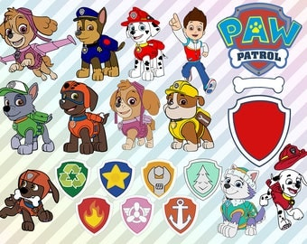 Paw Patrol Svg, Paw Patrol Clip art, Paw patrol dxf, eps files, Paw patrol cut files for silhouette or cricut, Paw patrol scrapbook, vinyl