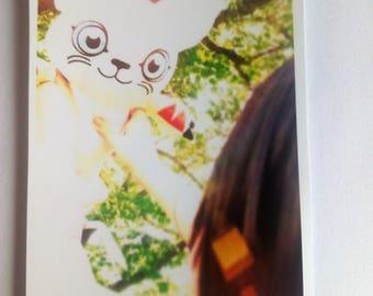 Digimon Kari Kamiya / Yagami Hikar + Gatomon/Gatomon anime cosplay print 9x13cm