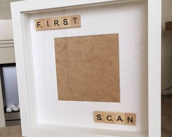 First scan scrabble photo frame