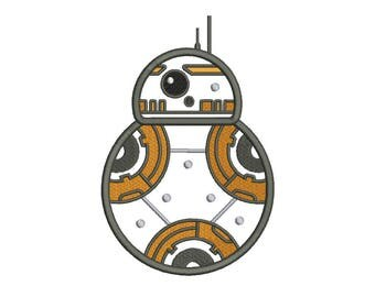 BB8 Applique Embroidery Design - 5 SIZES