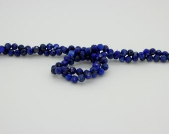 Natural Lapis Lazuli Round Faceted Ball Sphere Gemstone Loose Bead Beads 2mm 3mm 4mm