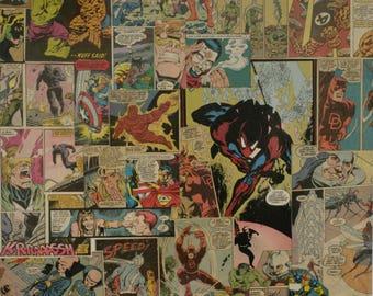 Custom Comics Canvas Collage