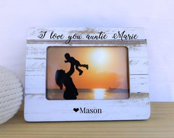 Personalized Aunt Gift Niece Nephew Frame. Long Distance Aunt Niece Nephew Frame. Nursery decor Aunt Nephew Niece Long Distance Gift