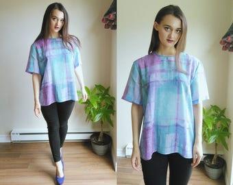 See Through Blouse / See Through Top / Sheer Clothes / Transparent Blouse / Transparent Top / Baggy T Shirt / Transparent Shirt / Keyhole