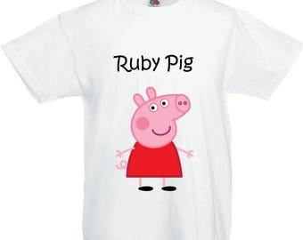 Peppa Pig Personalised T shirt with Child's Name!