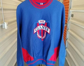 Summer Sale 10% Vintage 90's NFL New York Giants Shield Sweatshirt By The Game. Men's Size Large.