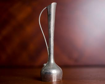 FREE SHIP! – Vintage Pewter Bud Vase with Handle