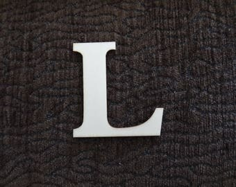 "wood ""L"" letter"