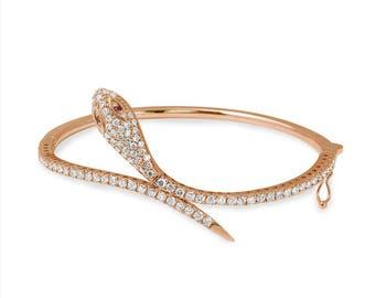 Bracelets,14k Gold Bracelet, Womens Bracelet, Snake Bracelet, Snake Bangle,Bangles,Diamond Bracelet Women,Diamond Bracelet,Bracelet