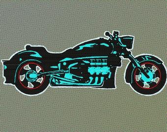 Embroidery motorbike
