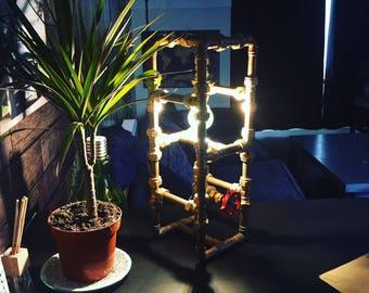 Handmade copper tube lamp
