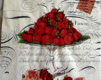 Strawberry top paper towel