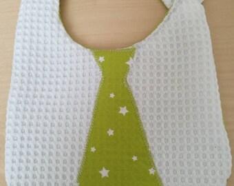 Bib tie fabric handmade baby