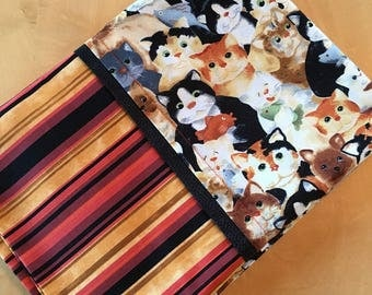 Kitty cat standard size pillowcase //cat lover//kids bedroom