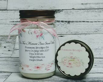 New mommy gift etsy new baby candle personalized baby gift new mom gift new baby gift negle Images