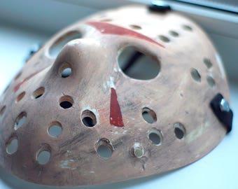 Jason Voorhees Friday the 13th Jason mask Brown Aged Hallowen mask Creepy mask