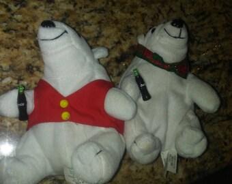 Coca cola polar bear plush dolls
