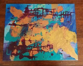 Abstract mixed media 16x20