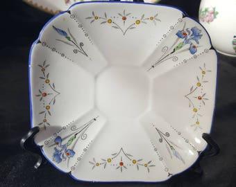 Shelley Queen Anne Blue Iris Art Deco Saucer