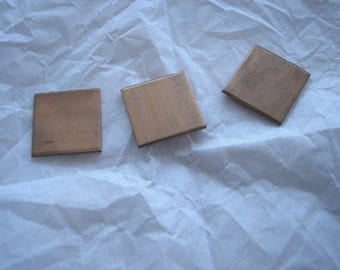 "Copper Squares, Copper for Enameling, Square 5/8"", Destash Enameling Supplies, Small Squares, Copper Enameling Supplies, Earring Blanks"