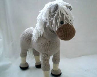 PDF pattern Flicka the Horse, English pdf crochet pattern, amigurumi horse,  crochet horse pattern, handmade horse pattern