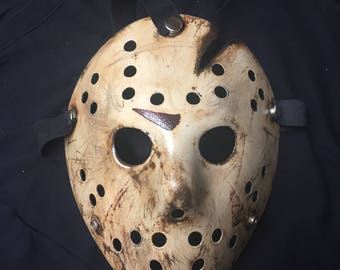 4 - Jason Voorhees Friday the 13th Custom Mask from Movie # 4 Part 4 Replica The Final Chapter