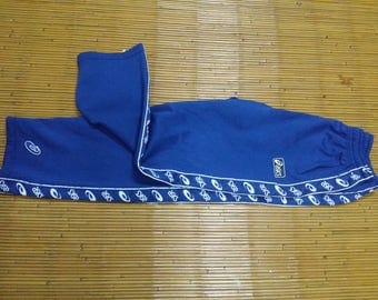 Vinatge ASICS The Stripe Logo Blue pants / asics Sweatpantas