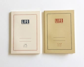 LIFE VERMILION Notebook A6 - N69 (Ruled) / N68 (Grid) | japanese notebook