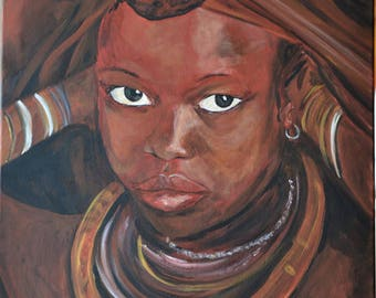 girl with her jewelry himba
