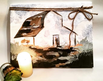 Barn Painting on Canvas