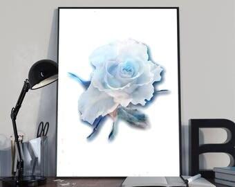 Rose Print, floresent Art, Flowers Print, Rose Printable, Rose Photograph, rose art, flower prints, gift, mom,  3