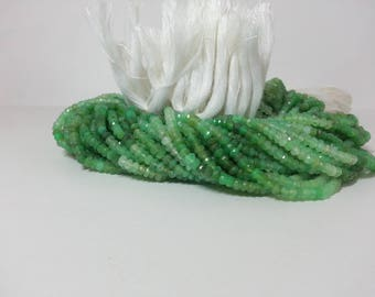Natural Chrysoprase Faceted Rondelle Beads, Faceted Green Beads, Chrysoprase Beads, Chrysopase Beads, Wholesale Gemstone Beads Strand