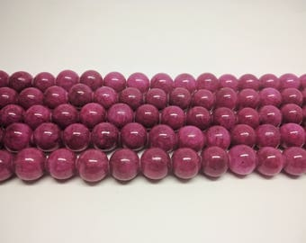 Purple Beads Jade Beads Candy Jade Beads Mashan Jade Beads Jadeite Beads Mountain Jade Beads for Jewelry Making Bracelet Beads for Necklaces
